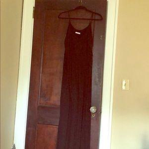 Lush Jersey Black Maxi Dress